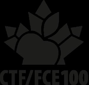 CTF/FCE - Vertical black logo - Centenary
